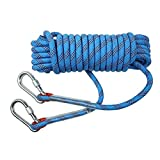 Webb Rock Climbing Rope,Blue 10M, 20M, 50M, 100M,climbing rope,diameter 8mm/10mm Outdoor Explore Escape rescue Rope,High Strength nylon rope Safety Rope (Color : Diameter-12mm, Size : 10M)