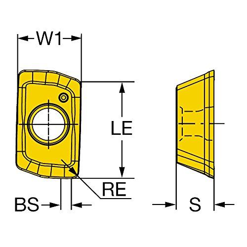 Carbide Right Hand Cut Sandvik Coromant 390R-070208M-MM S30T Coro Mill 390 Insert for Milling Pack of 10 N Wiper Ti, Al S30T Grade,