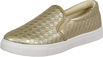Pierre Dumas Ladies Traveler-1 Slip-On Woven Sneaker