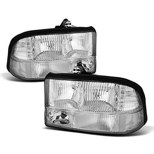 - For GMC Sonoma Jimmy Oldsmobile Bravada OE Replacement Chrome Bezel Headlights Driver/Passenger Pair
