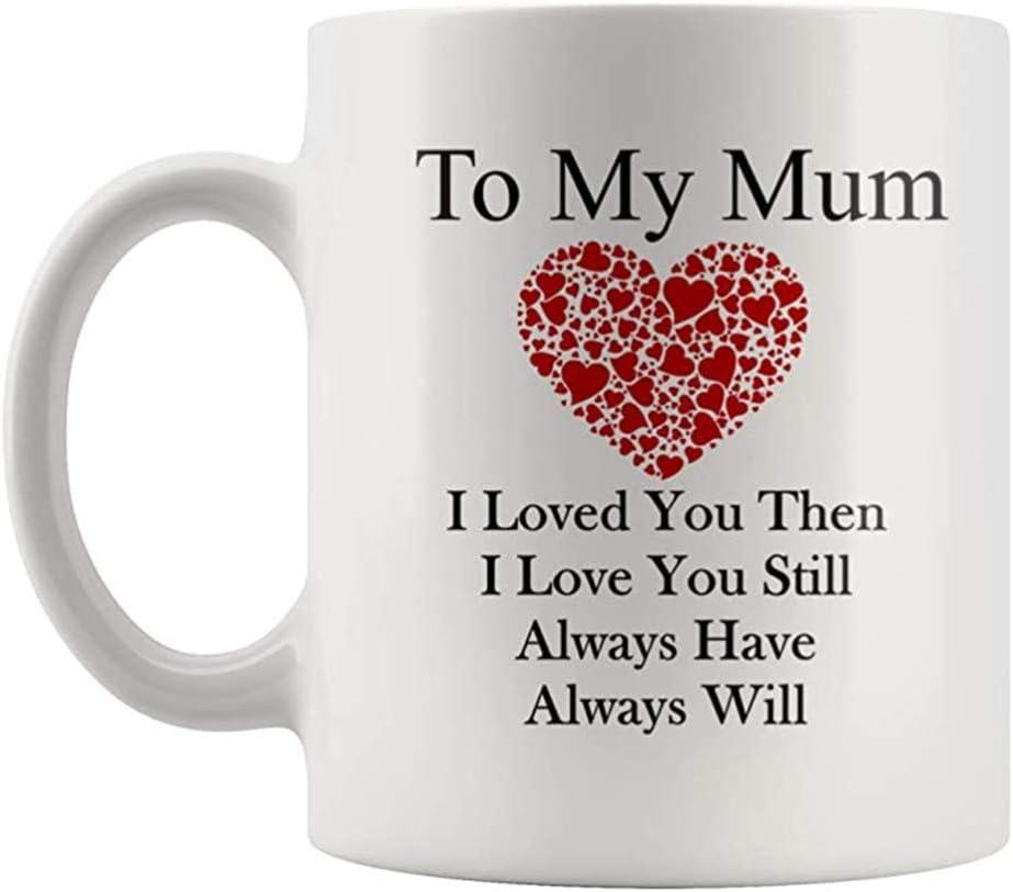 Hemoton Coffee Mug to My Mom Ceramic Tea Cup Drinking Cup for Mothers Day Birthday Gift
