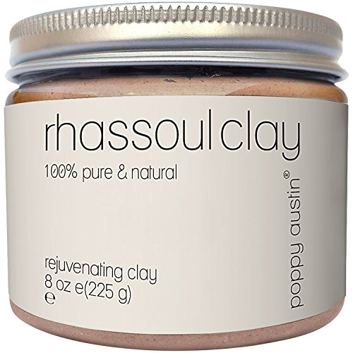 Poppy Austin Rhassoul Clay Hair and Face Cleanser - Vegan, Cruelty-Free and Organic Ghassoul Powder, 225 g