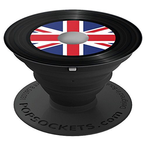 British Rock and Roll Vinyl Record Music Lover DJ gift - PopSockets Grip and Stand for Phones and Tablets