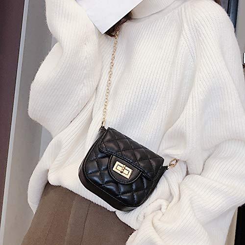 Chaîne Noire Xmy Carré Fashion Messenger Sauvage Femelle Rhombique Petit Sac Trompette XqqwgTv