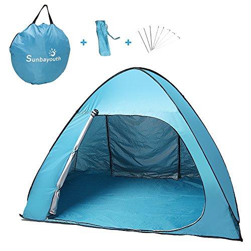 Sunba Youth Beach Tent, Pop Up Tent, Baby Beach Sun Shade, UV Protection Sun Shelter (BigBlue)