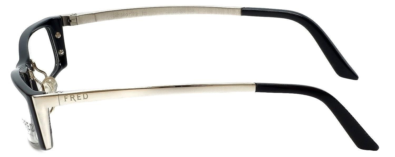 5b959b69a9b Amazon.com  Fred Lunettes Designer Eyeglasses St. Moritz-C3-003 in Black  50mm DEMO LENS  Clothing