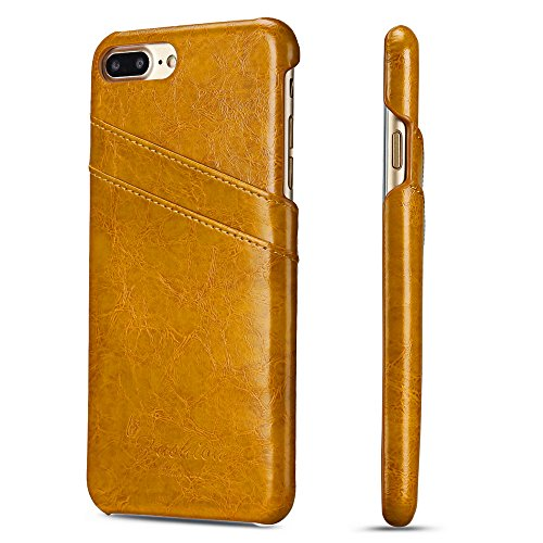 Scheam iPhone 7 Plus iPhone 8 Plus Wallet Case, Stylish Slim PU Leather Backcase Stand and Card Holders Wallet Phone Cover Wallet case Protective Case Compatible with iPhone 7 Plus iPhone 8 Plus ()