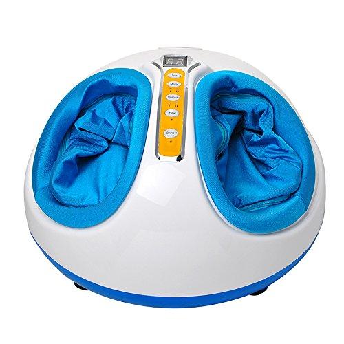 Denshine Deluxe Shiatsu-Fußmassagegerät Rolling Kneading Air Pressure Heating (Azure)