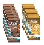 Quest Nutrition Quest Protein sXgFwE Powder, Chocolate Milkshake/Peanut Butter 24 Count (12 of Each)
