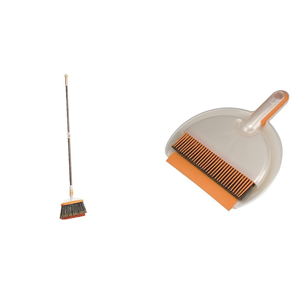 Bissell Lightweight Tile, Wood Floor and Hard Surface Pet Hair Broom, 1778 with Handheld Dustpan and Brush Set for Tile, Wood Floor and Hard Surfaces, 1745
