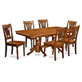 East West Furniture NAPL7-SBR-W 7-Piece Dining Table Set Review