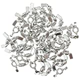 """50 Pack Wing Nuts 1/4"""" - Carbon Steel Zinc Plated 1/4-20 Inches Butterfly Nut Hand Twist Tighten Ear Wing Nut Threaded Thumb"""