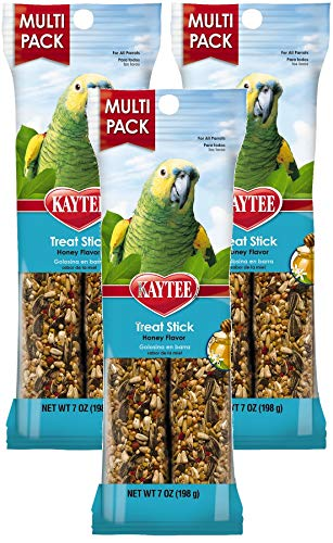 Kaytee 3 Pack of Forti-Diet Pro Health Parrot Honey Treat Stick Value Pack, 7 Ounces Each