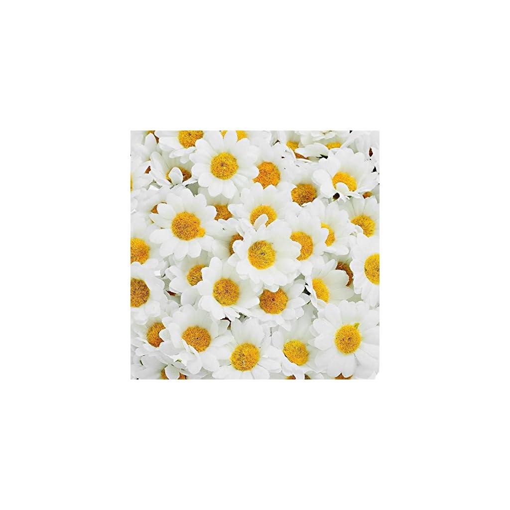 Supla-100Pcs-Artificial-Silk-Gerbera-Daisy-Flower-Heads-15-inch-DIY-Wreath-Gift-Box-Scrapbooking-Craft