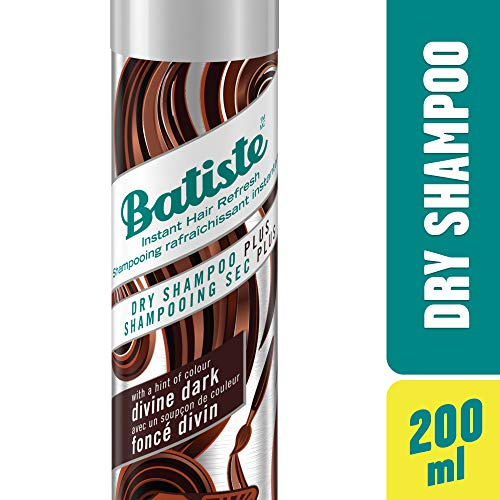 Batiste Divine Dark Dry Shampoo, For Dark & Deep Brown Hair, 200-ml