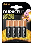 Duracell Alkaline AA Battery with Duralock Technology - 4 Pieces
