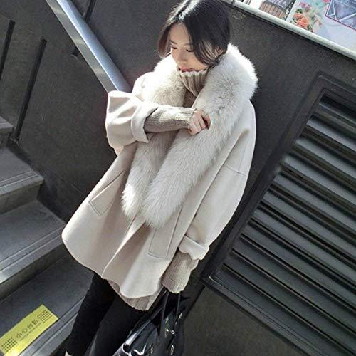 Invernali Moda Eleganti Lunga Finta Di Transizione Donna Cappotto Outwear Giovane Maniche Pelliccia Cappotti Tempo Libero Hellbeige Calda Autunno Alta Lunghe Vita Lauriney Sciolto nRFxXwS