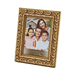 "WoodArt Wooden Picture Frame (5x7"", Floral Gold)"