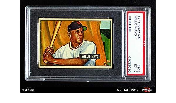 Amazoncom 1951 Bowman 305 Willie Mays New York Giants