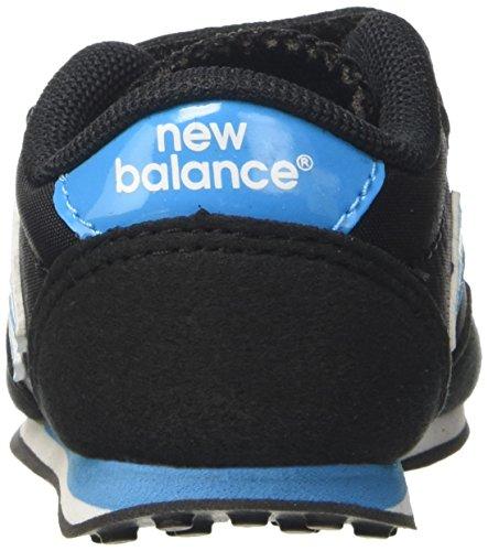 New Balance 410 Hook and Loop, Scarpa da Ginnastica Bassa Unisex, Bambini, Nero/Blu (Black/Blue) 20 EU