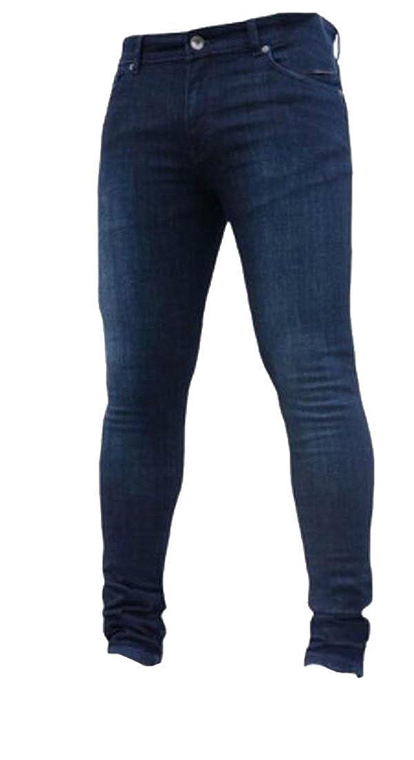 WSPLYSPJY Mens Denim Pant Younger-Looking Fashionable Slim Fit Comfy Stretch Skinny Fit Denim Jeans