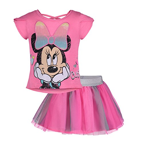 Dinsey Minnie Mouse Girls Fashion T-Shirt & Tulle Skirt Set