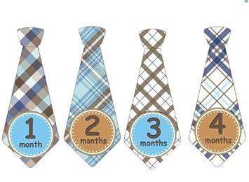 Mensual del bebé Pegatinas mensuales Corbata Pegatinas Boy Corbata ...