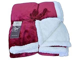 Napa Super Soft Micro Mink Fleece Sherpa Bed Throw Tv