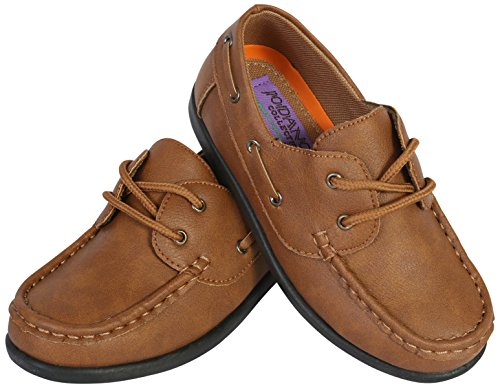 Jodano Collection Boys Slip on Boat Shoes with Memory Foam Insole, Tan, 10 M US Toddler' by Jodano Collection (Image #4)