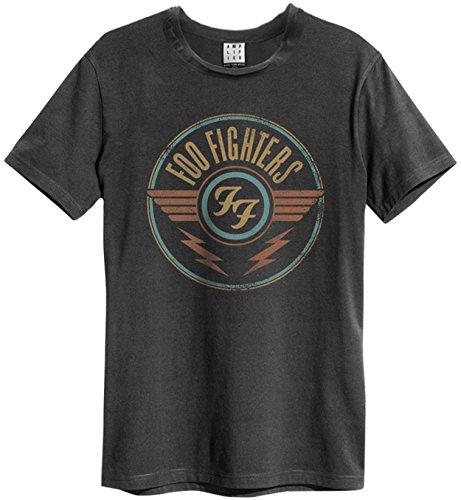 Amplified Herren T-Shirt Schwarz anthrazit
