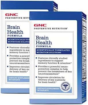 GNC Preventive Nutrition Brain Health Formula - Twin Pack