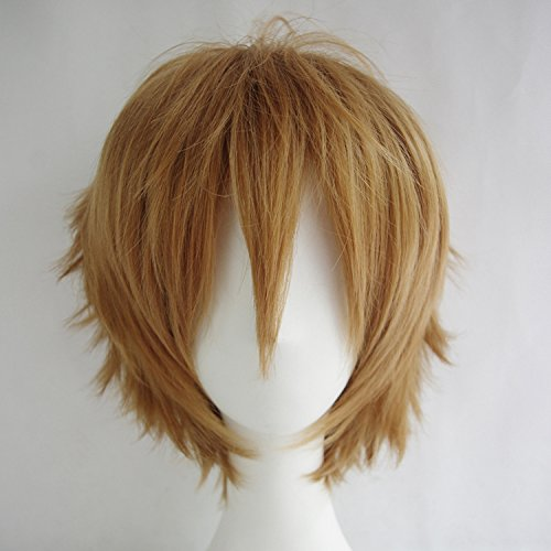 Max beauty Short Straight Anime Brown Cosplay Wigs Halloween Costume Party Daily -