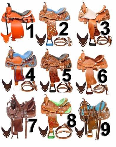 Y & Z EnterprisesプレミアムレザーWestern HorseサドルTackサイズ15