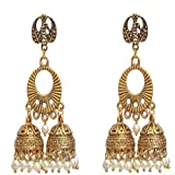 Product review for Sansar India Oxidized Kashmiri Jhumka Jhumki Indian Earrings Jewelry for Girls and Women