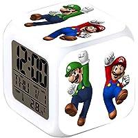 R-Timer New Super Mario Anime Clock Lampe LED d'alarme de Nuit Accessoire pour Adolescent