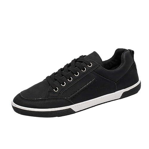 4730bc506e0ed Amlaiworld Zapatos para Hombre Calzado Casual Elegante para Hombres  Zapatillas de Estilo británico Zapatillas para Correr Botas de Piel Planas  Zapatillas de ...