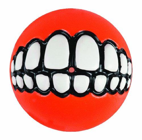 - Rogz Fun Dog Treat Ball in various sizes and colors, Medium, Orange