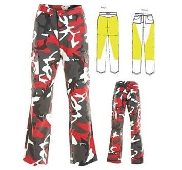 Australian Bikers Gear Rojo Camuflaje Pantalones Cargo ...