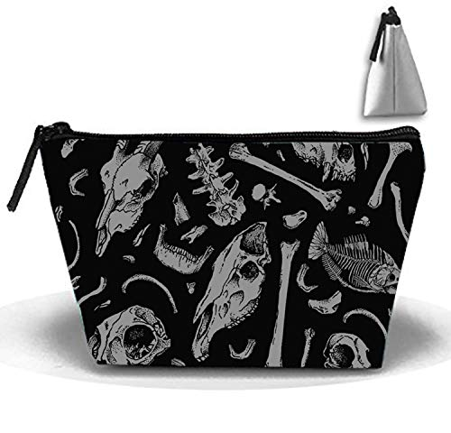 Bones And Skull Multi-functional Trapezoidal Storage Bag Travel Cosmetic Bag