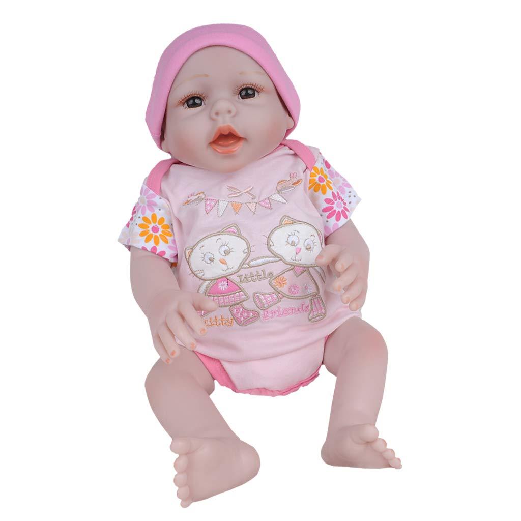 Fenteer Neonata in Silicone Appena Nata da 20 Pollici - Neonata Infantile in Neonato - Bambola da Addestramento per Casa - Lavabile