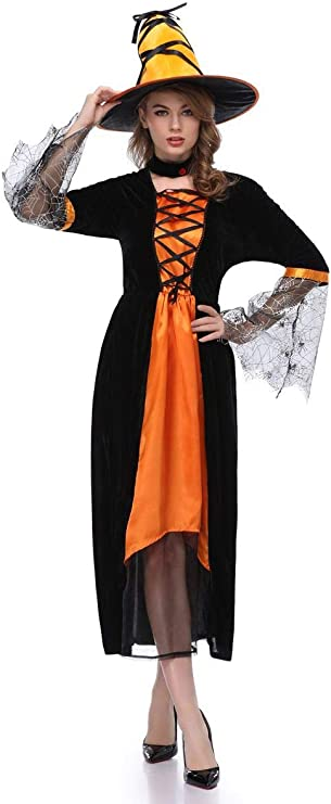 XSQR Halloween Cosplay Mujer Bruja Festival Fantasma Maquillaje ...