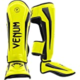 Venum Elite Standup Shinguards, Neon Yellow, Medium