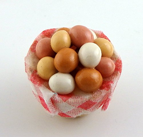 Melody Jane Dolls House Miniature 1:12 Kitchen Country Store Basket of Eggs