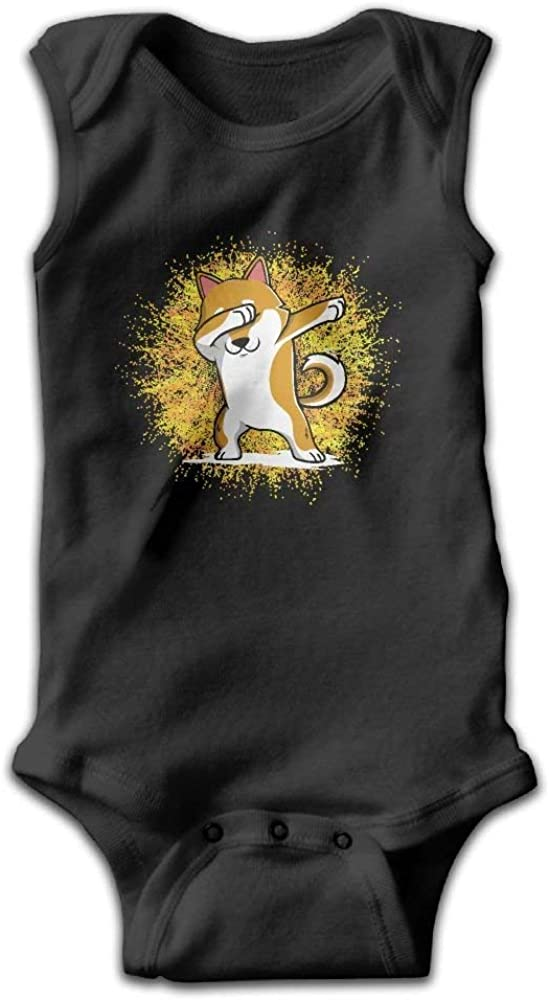 Dabbing Shiba Inu Doge Shoulder Bodysuits as picture12 Months