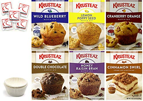- Krusteaz Muffin Mix Variety Pack #2 + Baking Liner. Flavors: Cranberry Orange; Blueberry; Lemon Poppy Seed; Double Chocolate; Cinnamon Swirl; Honey Raisin Bran. Bundle of 6 Muffin Mix Care Package