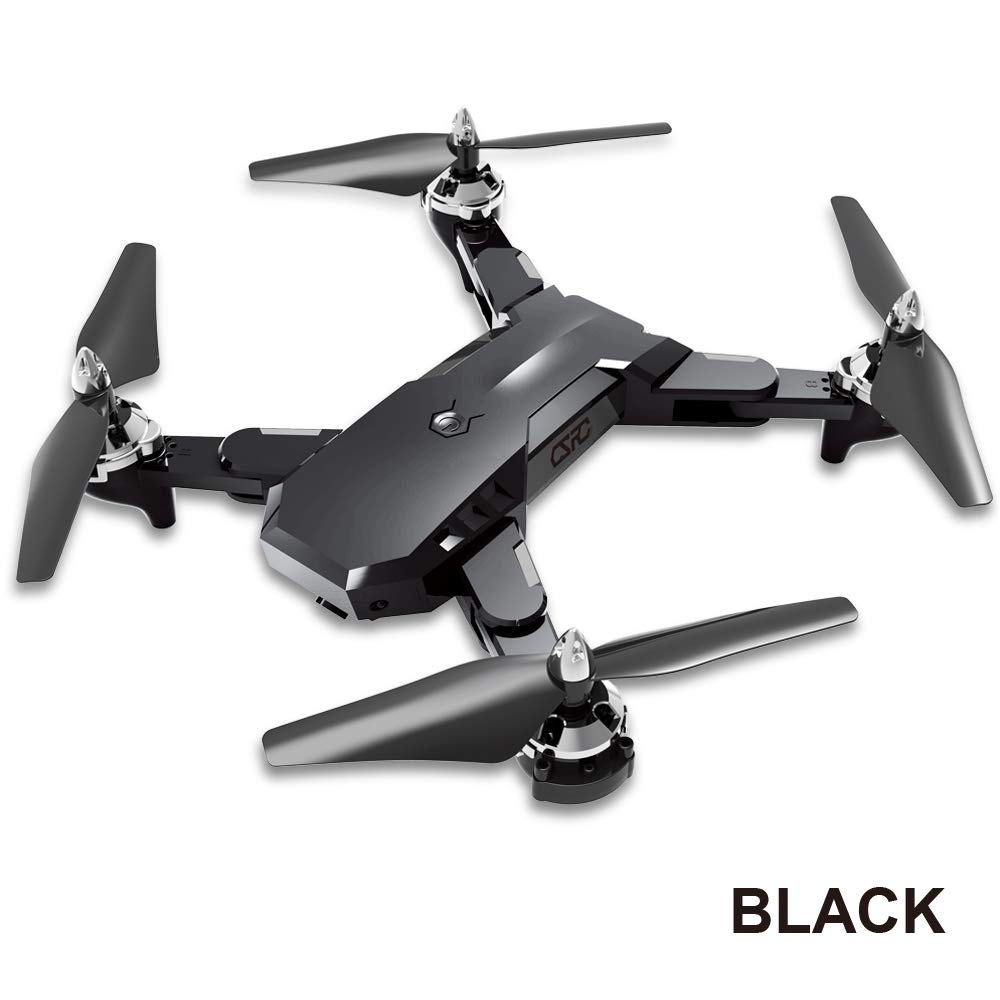 Black with 1080P camera OUYAWEI CS-7 2.4Ghz G-Sensor Foldable Mini RC Quadcopter Drone HD Camera WiFi Drone Altitude Hold Headless Mode RTF(Red Without Camera)