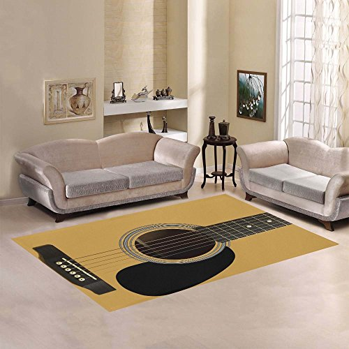 Price comparison product image AnnHomeArt abstract guitar Area Rug Modern Carpet5'3''x4''