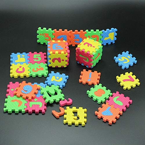 FidgetGear 36 PCS Education Toys Islamic Arabic Puzzles Alphabets Numeric Baby Kids Blocks from FidgetGear
