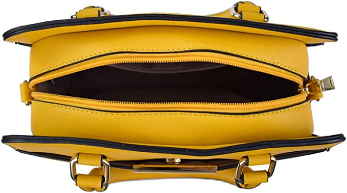 La Dearchuu Bolso de asas para mujer Amarillo amarillo