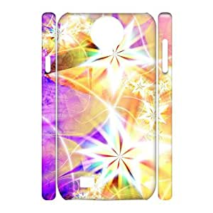 Custom Cover Case with Hard Shell Protection for SamSung Galaxy S4 I9500 3D case with Stars Streamer lxa847657